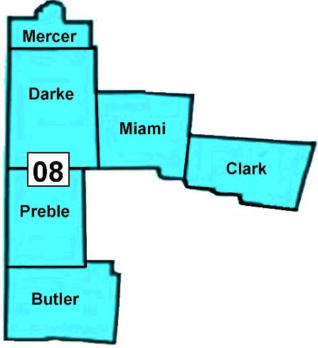 Darke County Ohio House and Senate Districts