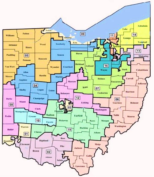 Darke County Ohio House And Senate Districts - Us congressional districts ohio map