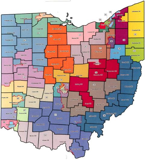 Senators By State Map.Darke County Ohio House And Senate Districts